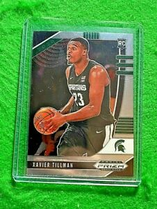 XAVIER-TILLMAN-SILVER-CHROME-ROOKIE-CARD-MICHIGAN-STATE-RC-GRIZZLIES-2020-PANINI