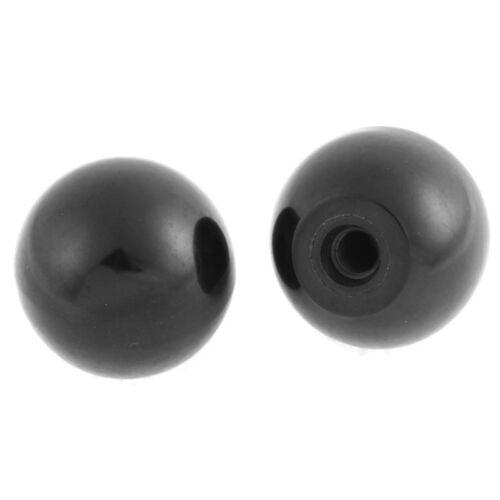 Kunststoff rund Kugel Hebel Knob M8 x 40mm 2 Stk schwarz C6E4 C6E4 X4J2 B2H4