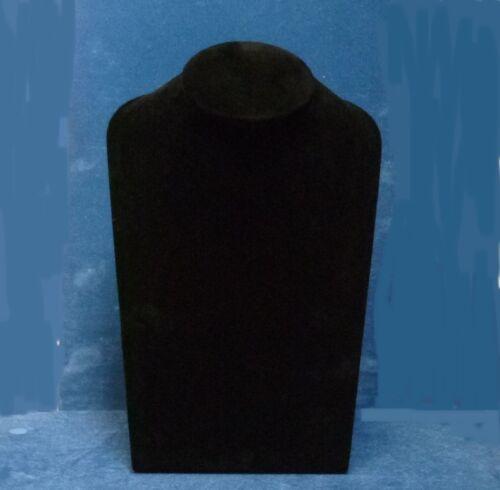 Lg Jewellery Display Bust in Black Suedette