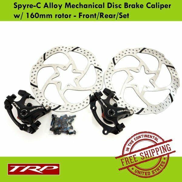 TRP Spyre-C  Alloy Mechanical Disc Brake Caliper w  160mm redor - Front Rear Set  official authorization