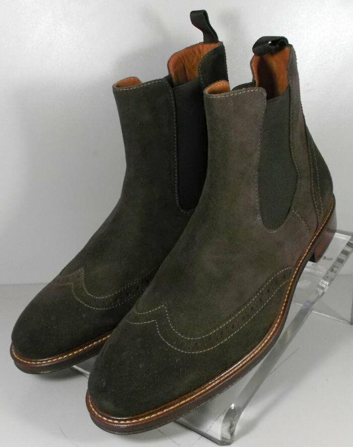 203956 SPBT 50 Chaussures Hommes Taille 9 m en Daim Marron Bottes Johnston & Murphy