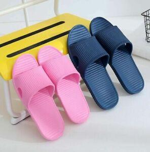 Lady Soft Sole Summer Beach Shower Sandals Home Bath Slippers Plain Casual Shoes