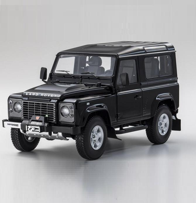 1 18 Kyosho Land Rover Defender 90 nero Diecast Modelo Coche nero 08901BK