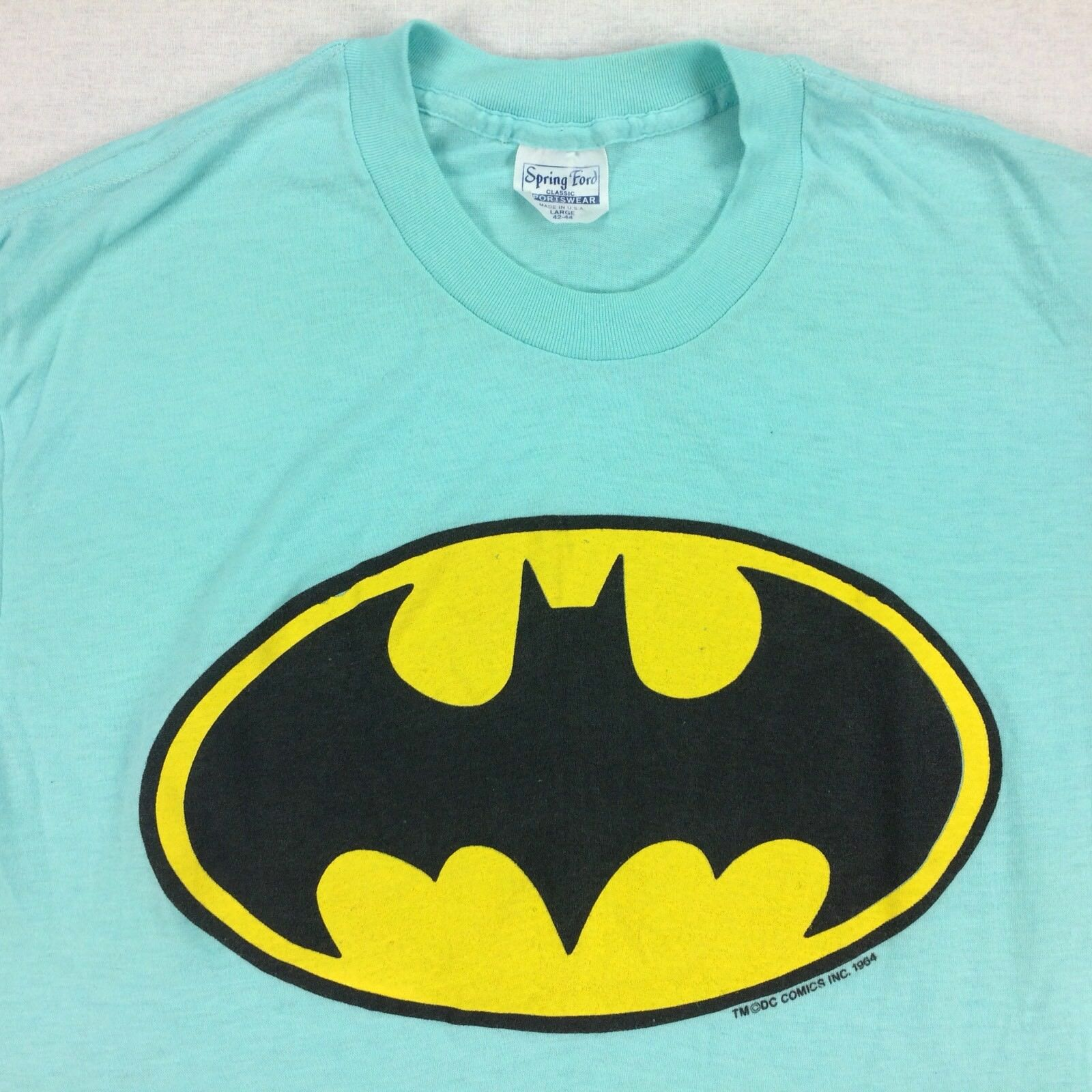 ViTG 70s 80s USA Made Batman T-Shirt Sz LARGE L Thin Comics Single Stitch