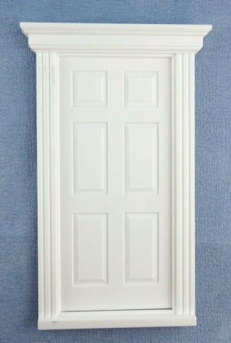 Puppenhaus Weiß Kunststoff 6 Panel Georgischer Tür 1:24 Maßstab DIY Bastler