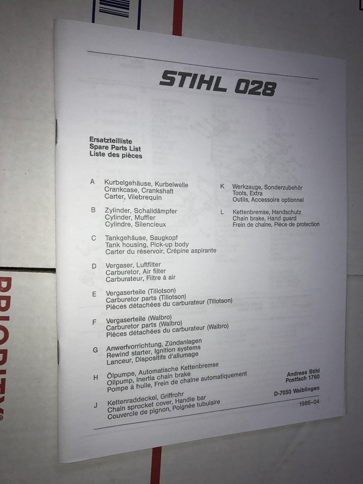 Stihl Farm Boss Parts Diagram Also Furthermore Chainsaw Carburetor Av Super Wood Manual Ebay 1200x1600