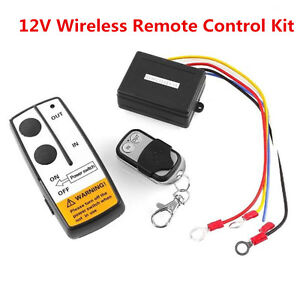 new 12v 12 volt winch wireless remote control kit for truck jeep atv