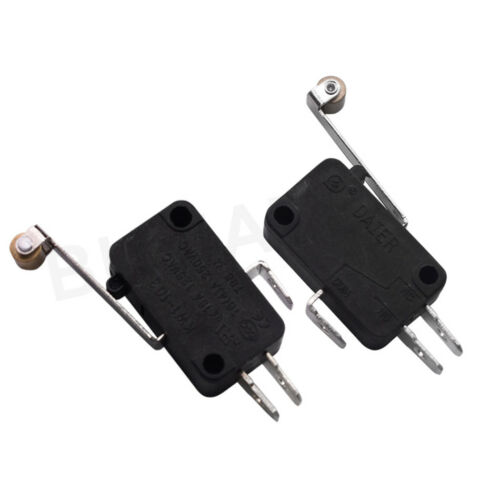 2PCS KW1-103 Micro Limit Contact Switch Endstop 250VAC 16A With Metal Wheel