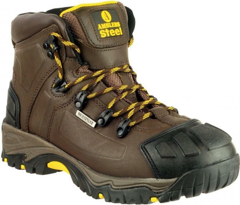 Amblers Safety FS39 Mens Steel Toe Cap Slip Resistant Role S3 Safety Boots Brown