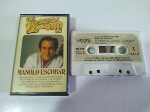 Manolo-Escobar-Los-12-Exitos-de-Oro-Perfil-1985-Cinta-Tape-Cassette