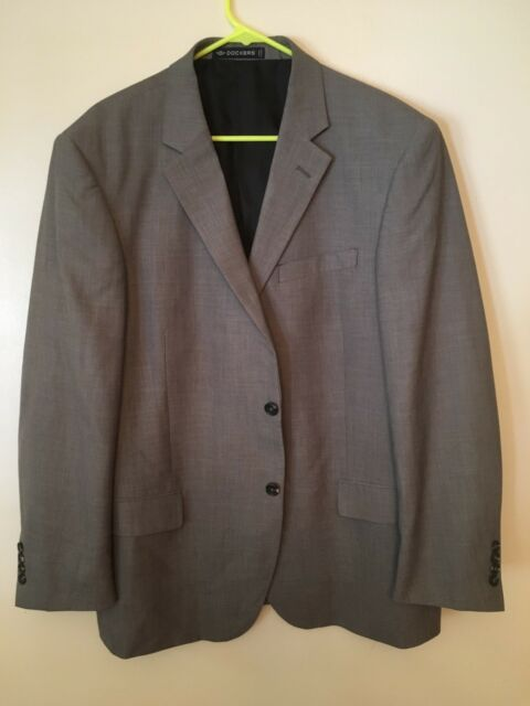 c8d4f75475f Dockers Men's Gray Two Buttons Suit Jacket/Sport Coat Size 44R | eBay