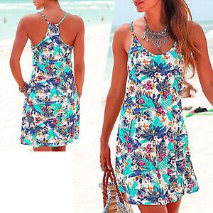 tolles mini Kleid in blau Gr.38 M Strandkleid Sommerkleid Jersey Shirtkleid