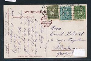 09485) Bahnpost Ovalstempel Glauchau-gera Z.2285, Ak 1922-afficher Le Titre D'origine