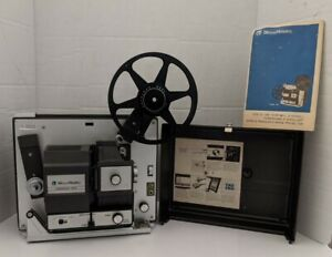 Vintage Bell & Howell Filmosound 8 458A Super8 And 8mm Film Projector!