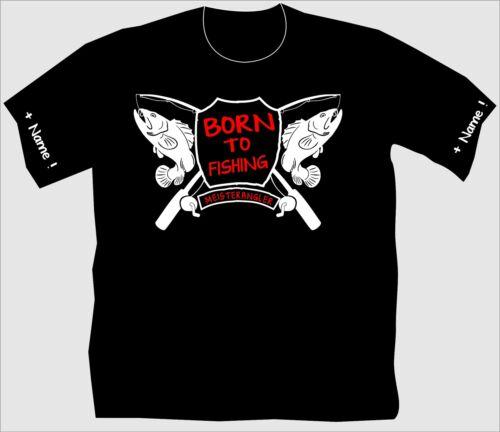 Angler shirt Angler t-shirt Born to fishing maître Angler anniversaire Gag 177