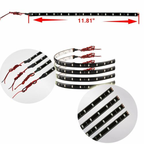 Zento Deals 8 Packs of Trimmable 30cm Red LED Flexible Waterproof Light Strips