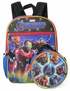 "New Kids Boys Marvel Spiderman 16/"" School Backpack Lunch Box Set"