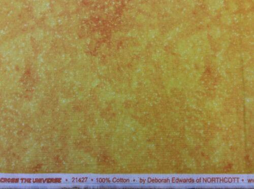 Northcott-en el Universo-Amarillo Mezclador De Tela 21427-100/% algodón