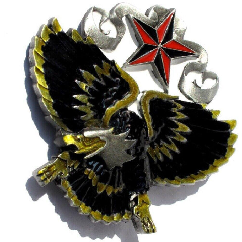 Buckle Adler & Tattoo- Stern, Eagle, Biker, Gürtelschnalle