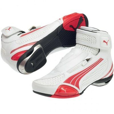 PUMA TESTASTRETTA II MID LOW CUT MOTORCYCLE SHOES BOOT WHITE RED SIZE US 5 6 7 8 | eBay