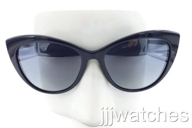 b71d35bafd New Versace Women Cat Eye Navy Blue Gray Gradient Sunglasses VE4348 52301G  57
