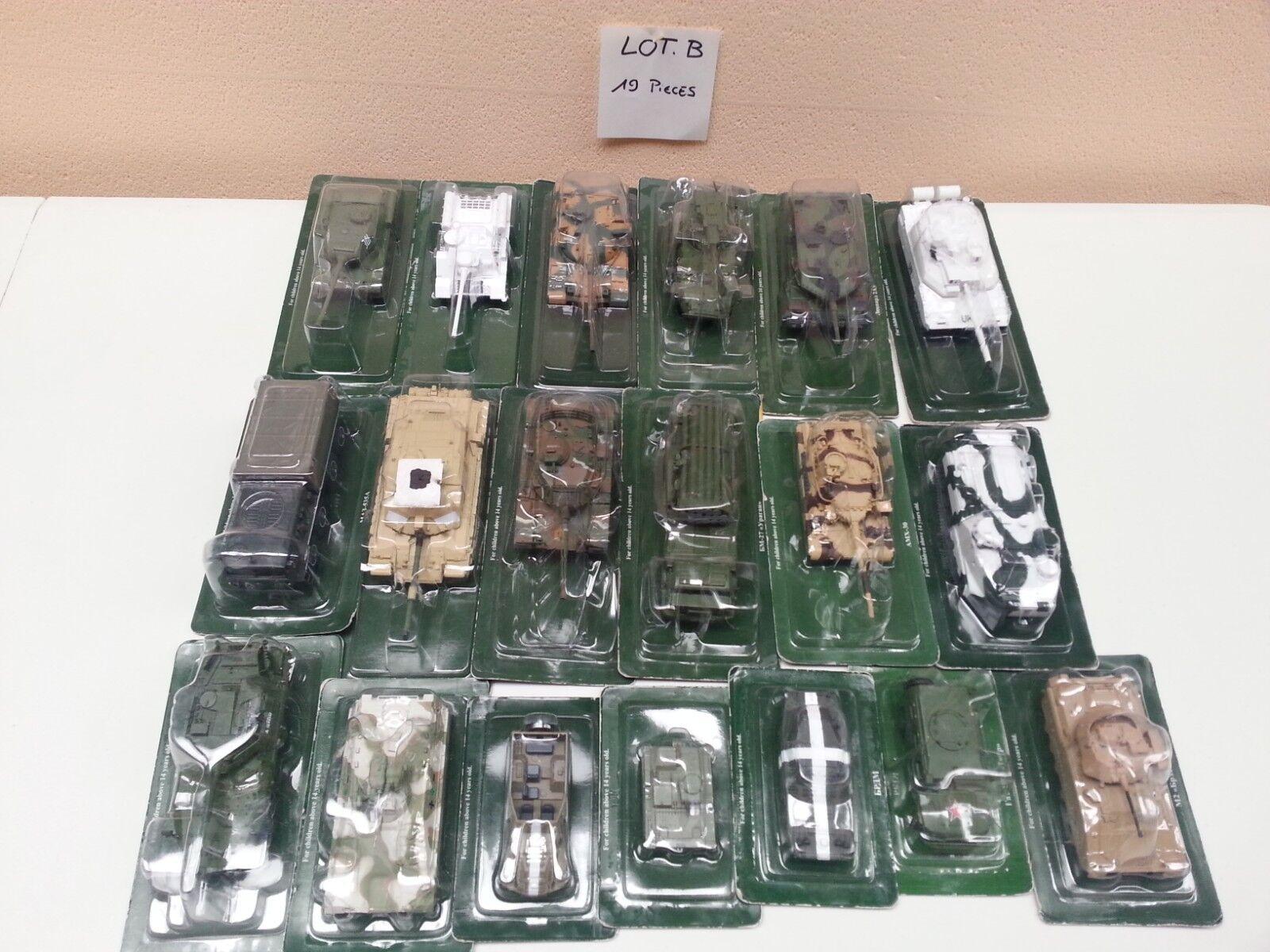 Lot de 19 véhicules militaire miniature (Eaglemoss)