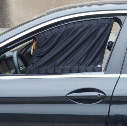 50*39cm Black Adjustable Car Window Mesh Style Curtain UV Sunshade Visor 1 Pair