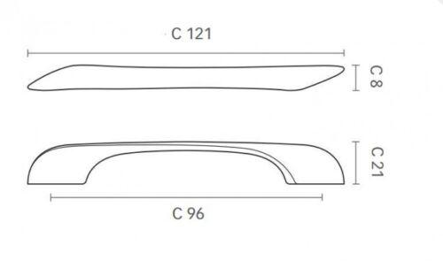 Maniglia maniglietta in zama per mobili ante armadio cassetti cucina MITAL 3000