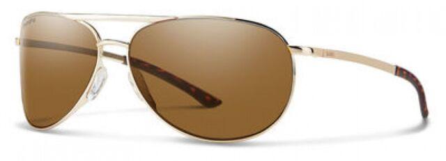 NEW Smith SMT SerpicoSlim2 Sunglasses 0J5G Gold 100% AUTHENTIC