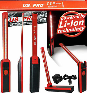 US-PRO-TOOL-15-LED-Work-Light-Torch-Li-Ion-Rechargeable-Cordless-Inspection-Lamp