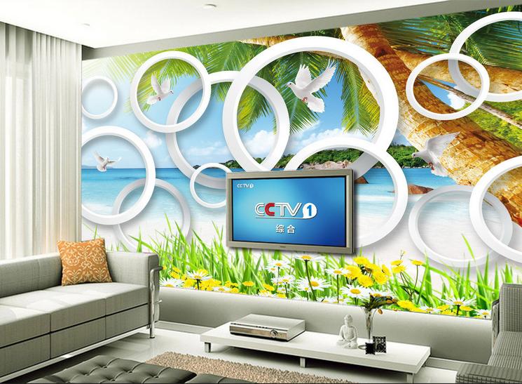 3D Weißer Ring Strand 8 Tapete Wandgemälde Tapete Tapeten Bild Familie DE Summer | Große Klassifizierung  | Praktisch Und Wirtschaftlich  |