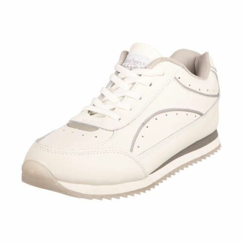 Toughees White Leather Lace Up Trainers SP £32.99
