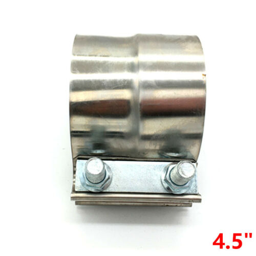 """4.5/"""" 115MM Stainless Exhaust Band Clamp Step Clamps for Catback Muffler Downpipe"""