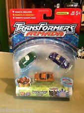 2002 Transformers Armada 3 Pack Figure Set MOC - BACKTRACK OVAL SPIRAL