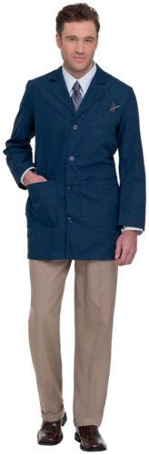 3163 Landau Men/'s Tailored Style Long Sleeve Four Button Closure Lab Coat