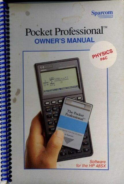 manual for sparcom physics pac for hp 48sx 48gx calculators ebay rh ebay com hp 48 user manual hp 48sx user manual download