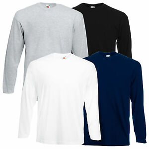 5-FRUIT-OF-THE-LOOM-HERREN-LONGSLEEVE-T-SHIRTS-M-L-XL-XXL-LANGARM-SET-SHIRT-NEU