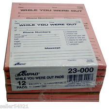 Quill While You Were Out Message Book Pink Yellow Made In USA 7-45214 200 Sets