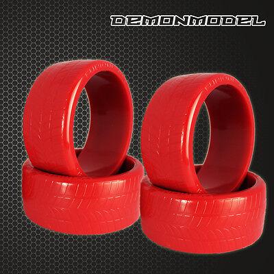 4PCS RC 1/10 On-Road Drift Car Drift Tires 26mm Hard Plastic Tyre