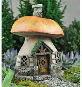 miniature garden fairy faerie gnome hobbit mushroom cottage by fiddlehead ebay. Black Bedroom Furniture Sets. Home Design Ideas