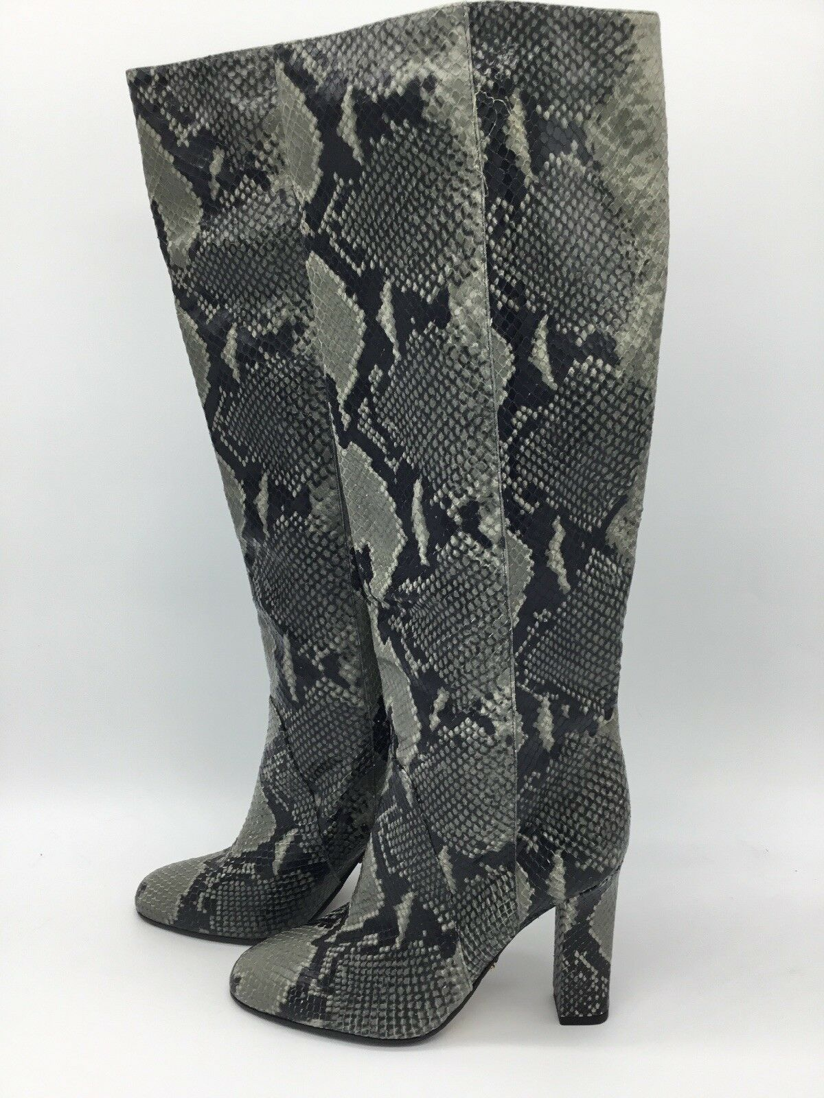 Aquatalia  Snakeskin Knee-high Boots Sz 6.5B New