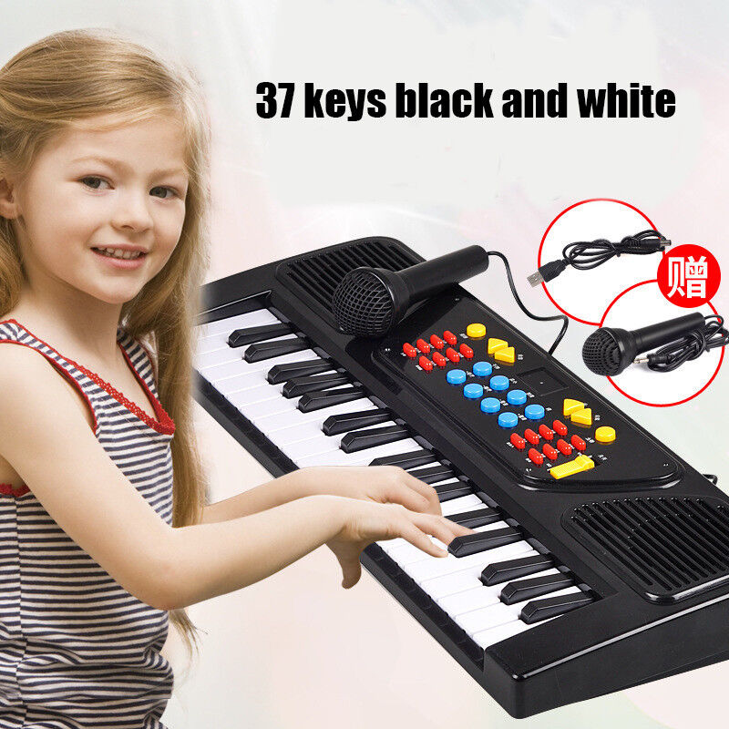 2018 37 Key Kids Electronic Keyboard Piano Organ Toy Microphone Music play kids
