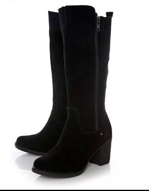 MODA IN PELLE BETTRIE BLACK BOOTS UK SIZE 5 38   DESIGNER NEW BNIB Box