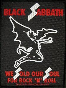 BLACK-SABBATH-AUFNAHER-PATCH-24-WE-SOLD-OUR-SOUL-FOR-ROCK-039-N-039-ROLL-10x8-cm