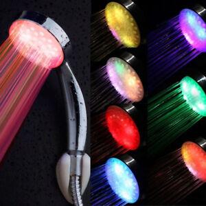 LED-Duschkopf-7-Farben-Duschbrause-Handbrause-mit-Licht-Farbwechsel-Brausekopf