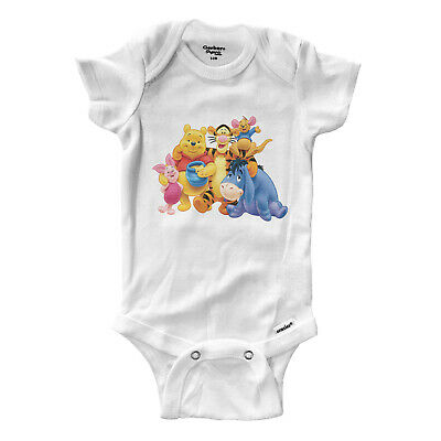 Winnie the Pooh Bear and Tigger Friend Infant Baby Boy Girl Rib Bodysuit Clothes