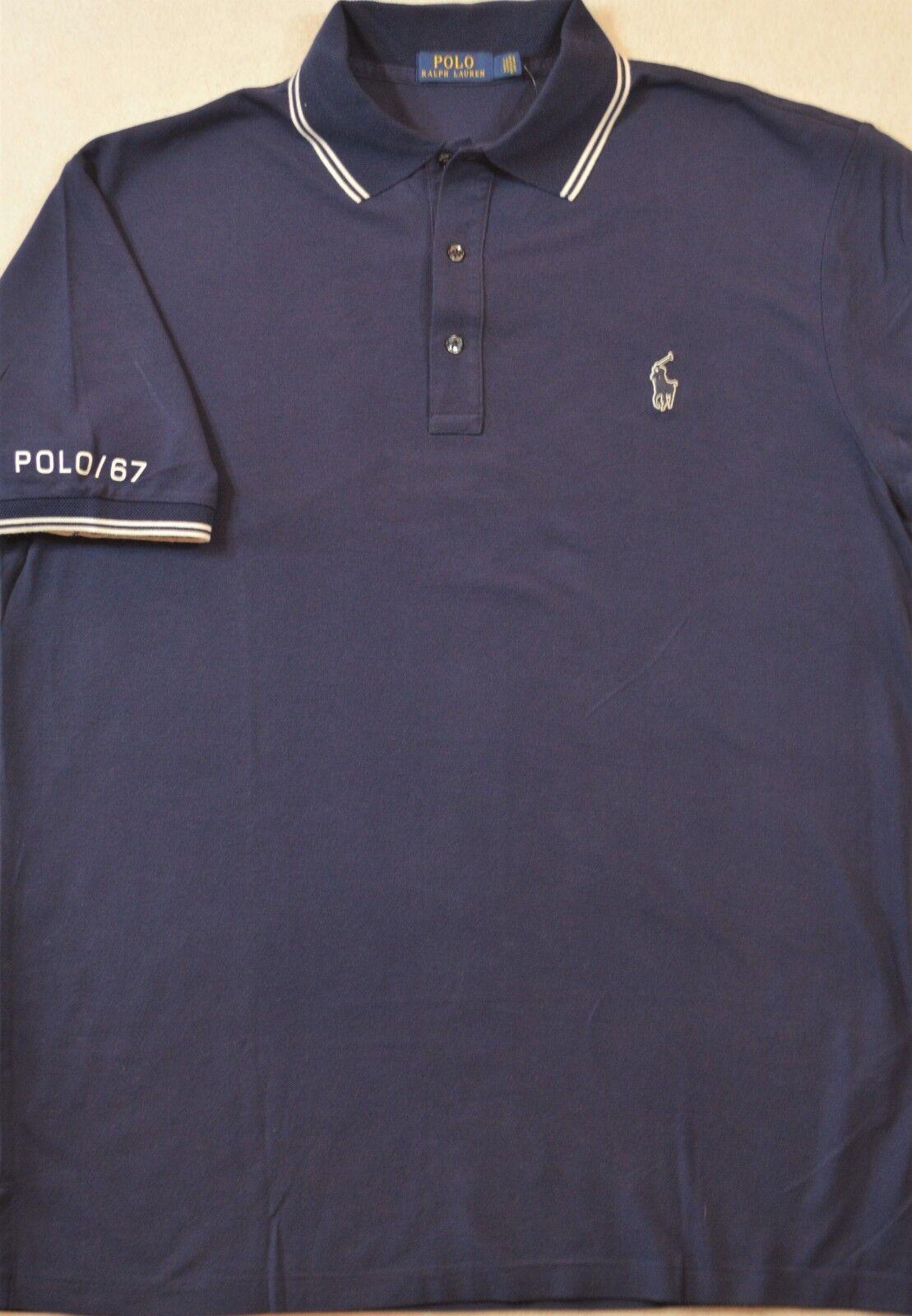 Polo Ralph Lauren Navy Mesh Shirt 2XB 2XLT 3XB 3XLT NWT