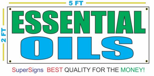 ESSENTIAL OILS Banner Sign 100/% All Weather New LARGER Size Wholesale Price