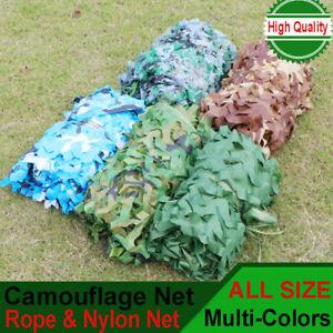 Jungle Filet de Camouflage Net 3m/ 4m/ 5m Chasse Camping militaire Forêt Hide