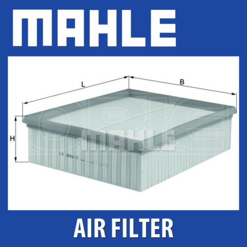 Mahle Air Filter LX593/1 - Fits Audi A4, A6, A8 2.5TDI - Genuine Part
